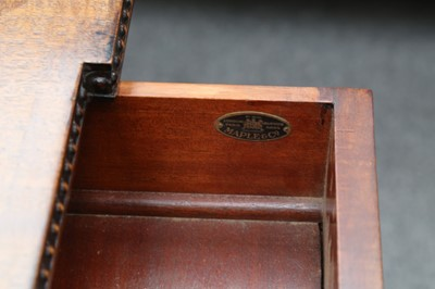 Lot 19 - A MAHOGANY SERVING TABLE, IN THE ADAM STYLE, BY MAPLE AND CO., EARLY 20TH CENTURY