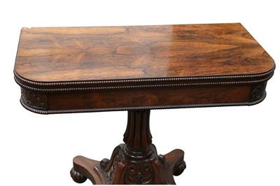 Lot 22 - A LATE REGENCY/WILLIAM IV ROSEWOOD TEA TABLE
