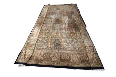 Lot 67 - AN INDIAN CARPET OF GARDEN DESIGN