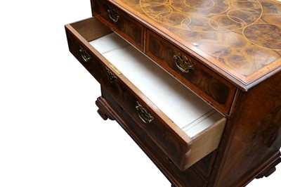 Lot 21 - A WALNUT AND OYSTER VENEERED CHEST OF DRAWERS, ELEMENTS LATE 17TH CENTURY AND LATER
