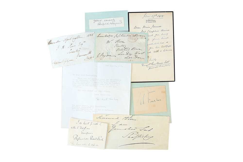 Lot 1431 - Autograph Collection.- Miscellaneous