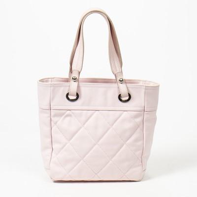 Lot 28 - Chanel Pink Quilted Paris Biarritz Zip Tote