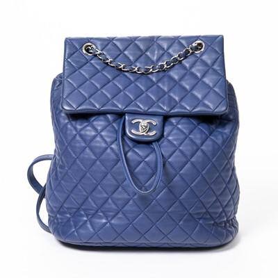 Lot 75 - Chanel Blue Large Urban Spirit Backpack