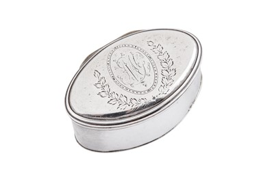 Lot 15 - A George III sterling silver nutmeg grater, London 1786 by Thomas Phipps and Edward Robinson