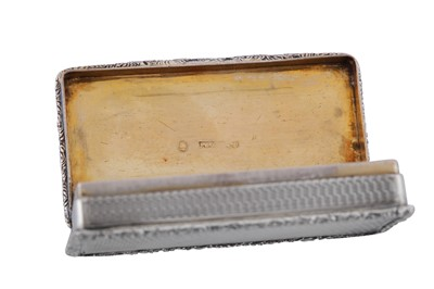 Lot 5 - A William IV sterling silver snuff box, Birmingham 1836 by William Phillips (reg. Jan 1832)