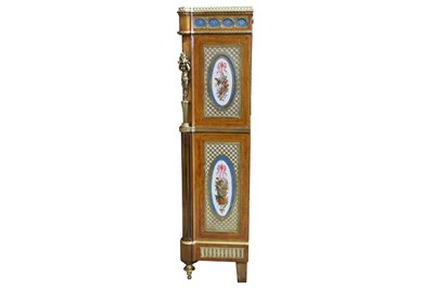 Lot 68 - A 19TH CENTURY FRENCH NAPOLEON III KINGWOOD, ORMOLU AND PORCELAIN MOUNTED ESCRITOIRE A ABATTANT