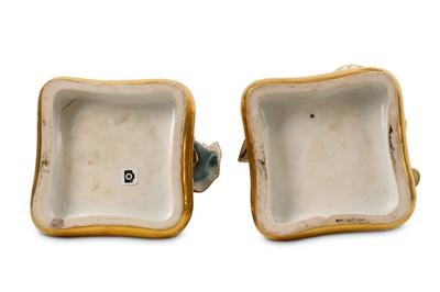 Lot 59 - A PAIR OF MID 19TH CENTURY 'PORCELAIN DE PARIS' FIGURAL PERFUME BOTTLES OF A SULTAN AND SULTANA