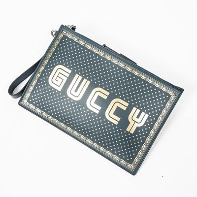 Lot 85 - Gucci Blue Guccy Sega Clutch