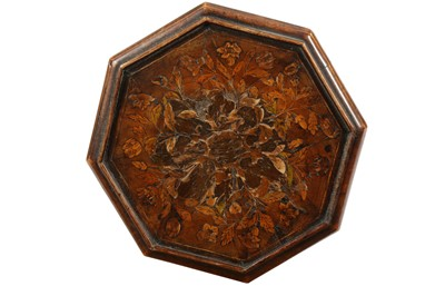 Lot 23 - A DUTCH WALNUT AND MARQUETRY CANDLE STAND, IN THE 17TH CENTURY STYLE, 19TH CENTURY
