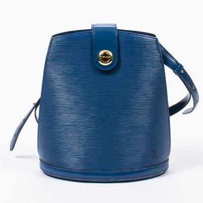 Lot 79 - Louis Vuitton Blue Epi Cluny Shoulder Bag