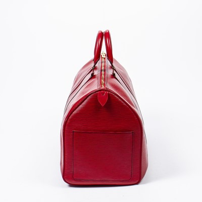 Lot 18 - Louis Vuitton Red Epi Keepall 50