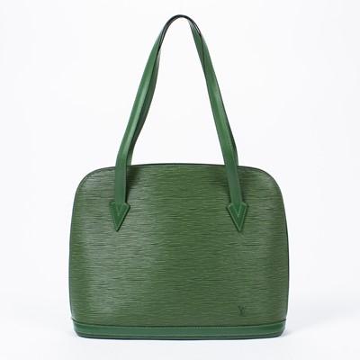 Lot 94 - Louis Vuitton Green Epi Lussac Shoulder Bag