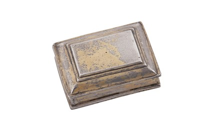 Lot 26 - A mid-18th century Spanish Colonial unmarked silver gilt snuff box, circa 1730-50