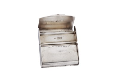 Lot 25 - An Edwardian sterling silver book of matches holder, London 1901 by Alexander Clark