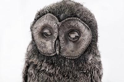 Lot 34 - A late 20th / early 21st century Italian silver model of an owl, Milan circa 2000 by Gianmaria Buccellati