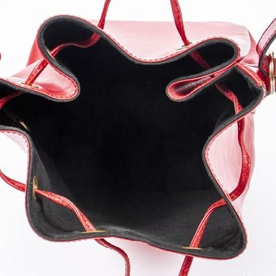 Lot 7 - Louis Vuitton Red Epi Noe PM
