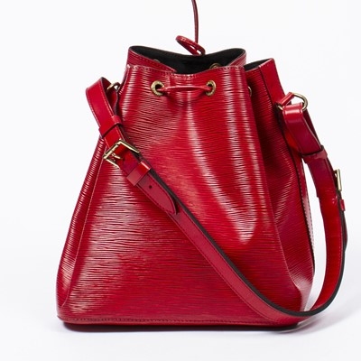 Lot 7 - Louis Vuitton Red Epi Noe PM