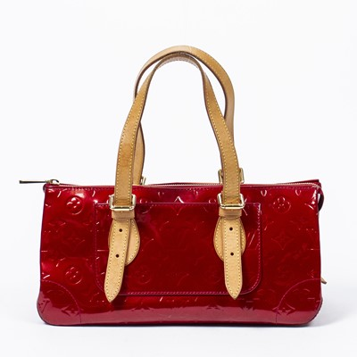 Lot 6 - Louis Vuitton Red Monogram Vernis Rosewood Shoulder Bag