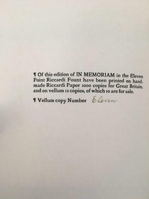 Lot 1017 - Riccardi Press - Printed on Vellum