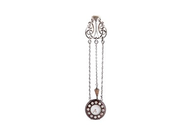 Lot 49 - A Victorian sterling silver watch chatelaine, London 1874 by Henry William Dee