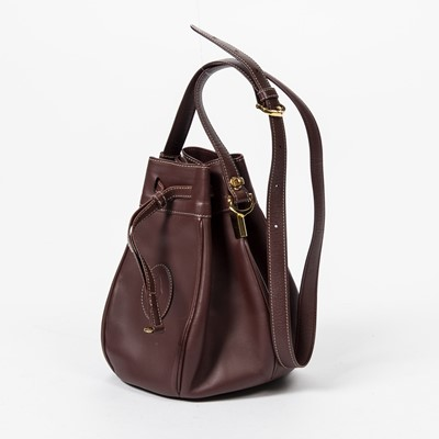 Lot 48 - Cartier Burgundy Must De Cartier Drawstring Tote
