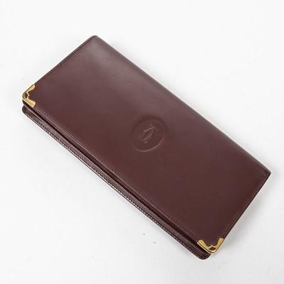 Lot 49 - Cartier Burgundy Long Wallet