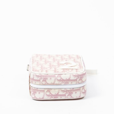 Lot 37 - Christian Dior Pink Diorissimo Number 2 Zip Wristlet Pouch