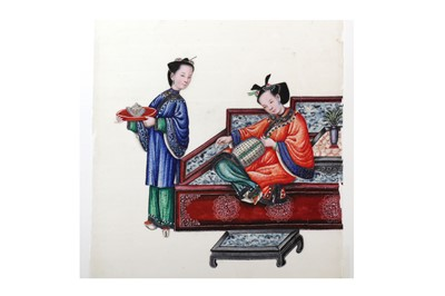 Lot 1075 - Chinese Pith Paintings. Costumes etc.