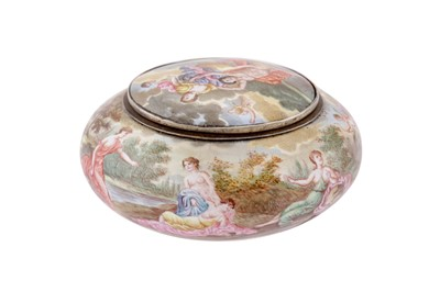 Lot 86 - A late 19th century Austrian silver and enameled snuff box, Vienna circa 1870 by Hermann Ratzersdorfer (1845 - 1894)