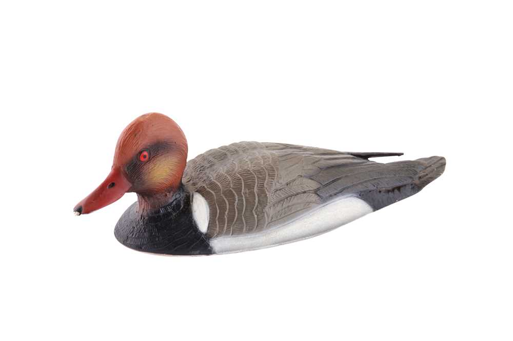 Lot 36 - A late 20th century Italian 800 standard silver and cold painted enamel model of a duck, Milan by R. Miracolli