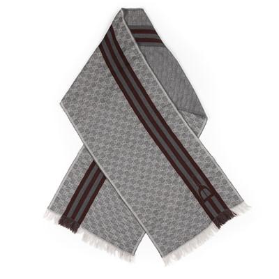 Lot 65 - Gucci Grey Monogram Motif Scarf