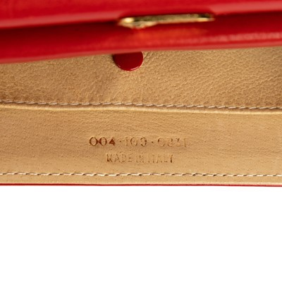 Lot 10 - Gucci Red Swing Mini Strap Wallet