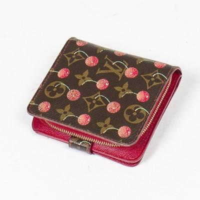 Lot 19 - Louis Vuitton Monogram Cerises Compact Zip Wallet