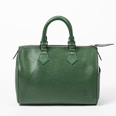 Lot 93 - Louis Vuitton Green Epi Speedy 25