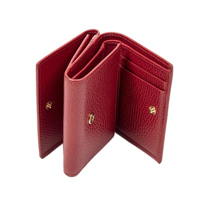 Lot 22 - Gucci Red Compact Tri Fold Wallet
