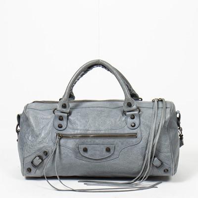 Lot 60 - Balenciaga Grey Twiggy Shoulder Bag