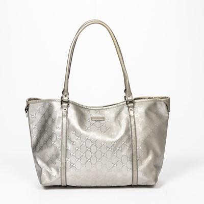 Lot 54 - Gucci Silver Guccissima Joy Tote MM