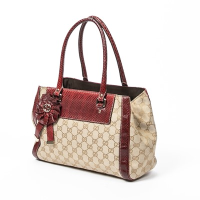 Lot 47 - Gucci Beige Monogram Trophy Small Tote