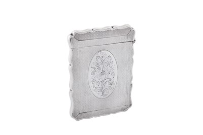 Lot 18 - A Victorian sterling silver card case, Birmingham 1867 by Robert Thornton