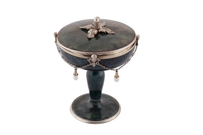 Lot 87 - A late 19th century Austrian silver and enamel covered cup, Vienna circa 1890 by Karl Rössler (active 1890-1908)