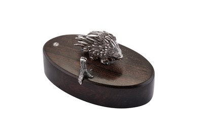 Lot 32 - A modern late 20th century South African silver miniature model of a porcupine, Zimbabwe 2000 by Patrick Mavros