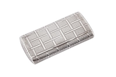 Lot 1 - A George III sterling silver snuff box, London 1802 by W? probably William Edwards or Ellerby