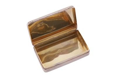 Lot 3 - A William IV sterling silver snuff box, London 1834 by Edward Edwards II