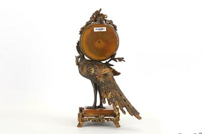 Lot 45 - ATTRIBUTED TO L'ESCALIER DE CRISTAL, PARIS: A FINE LATE 19TH CENTURY FRENCH PEACOCK CLOCK
