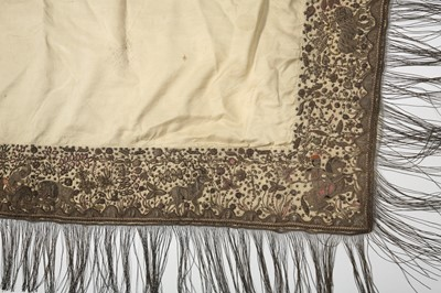 Lot 20 - A COVER OF IVORY SILK