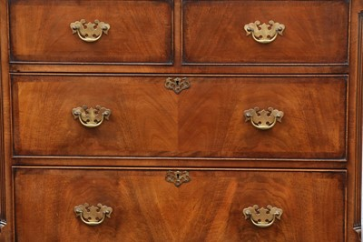 Lot 35 - A WALNUT CHEST ON STAND, IN THE GEORGE I STYLE, 20TH CENTURY