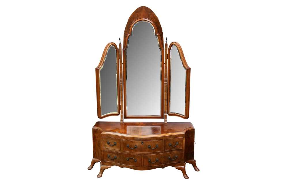 Lot 39 - A WALNUT DRESSING TABLE BY MAURICE ADAMS, EARLY 20TH CENTURY
