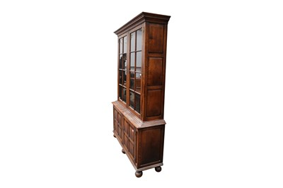 Lot 42 - A LARGE SAMUEL PEPYS STYLE OAK BOOKCASE, LATE 20TH CENTURY