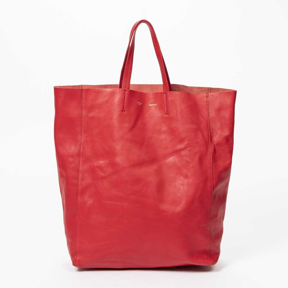 Lot 13 - Celine Red Shopping Tote