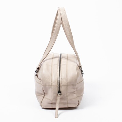 Lot 29 - Chanel Pale Pink Square Quilted LAX Bowler Bag